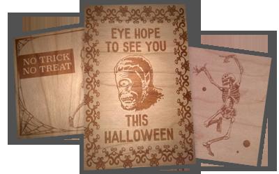 Laser Cut Halloween Cards