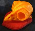 3D Kitbash Owl Skull